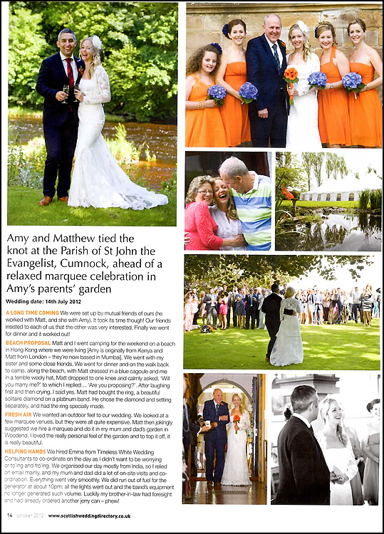 Amy & Matt's Scottish Wedding Directory Real Life Wedding