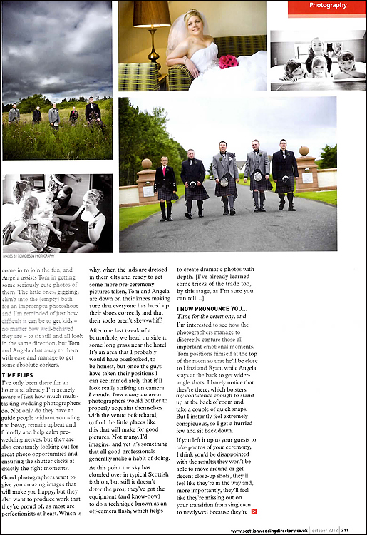 Scottish Wedding Directory - Behind the Lens 2