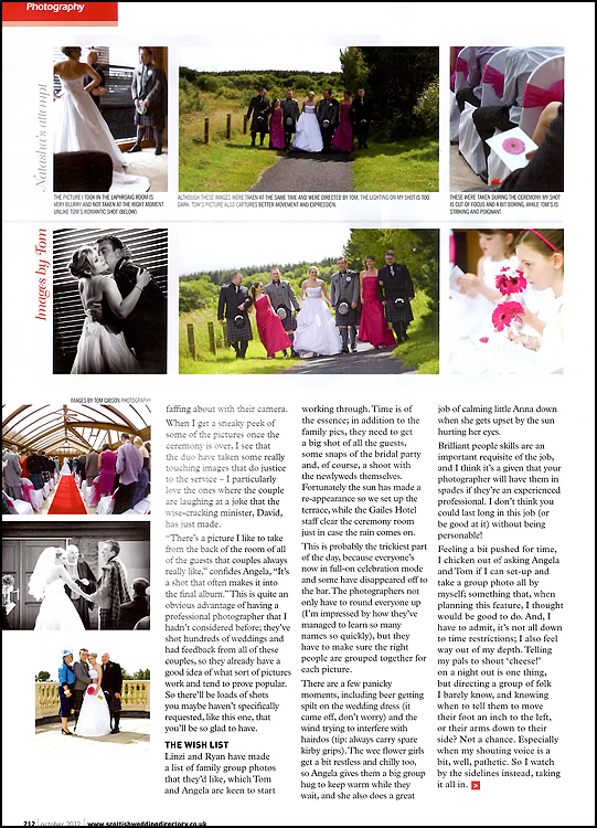 Scottish Wedding Directory - Behind the Lens 3