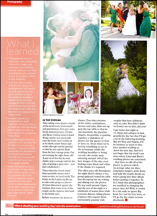 Scottish Wedding Directory - Behind the Lens 4