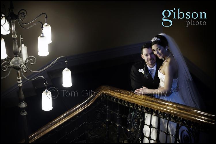 Stunning Wedding Photo Glasgow University Bride and Groom