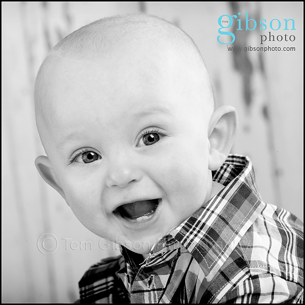 Ayrshire Portrait Photographer Smiling Baby Photograph