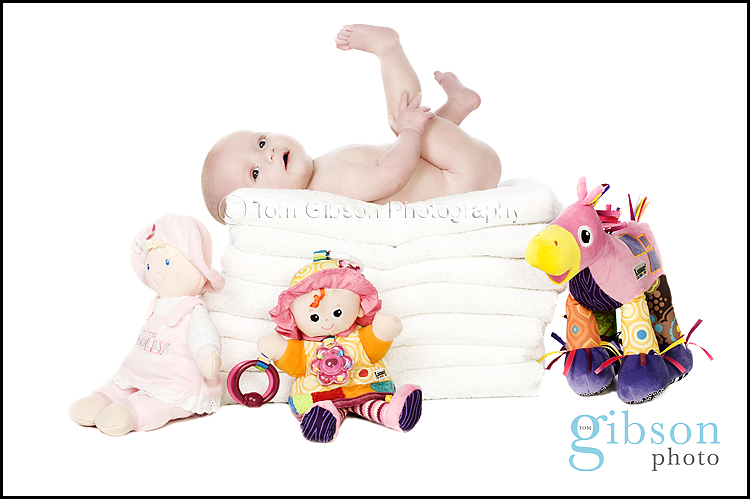 4 month old baby photograph by Ayrshire Baby Photographer Tom Gibson