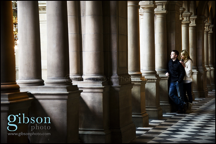 Pre-wedding Photo-shoot image at Kelvin Grove Art Gallery and Museum taken by Glasgow Photographer Tom Gibson