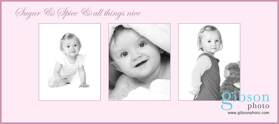 Baby Photographer Ayrshire - cherubs baby promotion 3 photographs of a baby girl