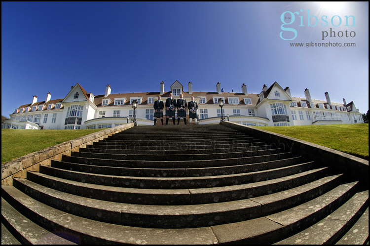Turnberry Wedding Photographer Groom and Grooms Men Photograph