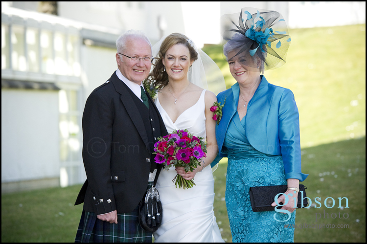 Turnberry Wedding Venue Photograph Bride, Mum and Dad