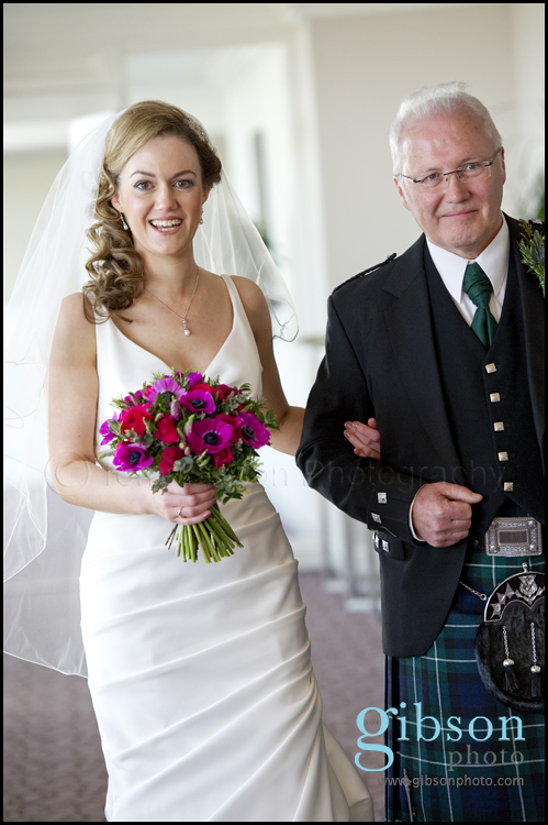 Turnberry Wedding Venue Photograph Bride and Dad