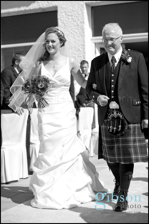 Turnberry Wedding Bride and Dad Photgraph
