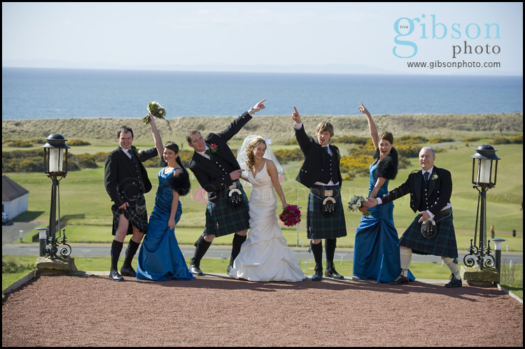Turnberry Hotel Wedding Venue Bridal Party Fun Photgraph