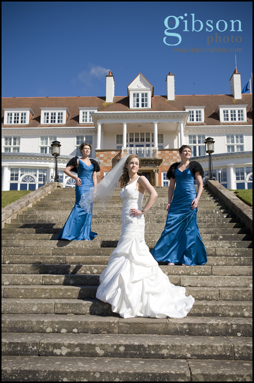 Turnberry Hotel Wedding Venue Bride and Bridesmaids Photgraph
