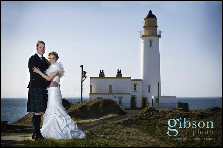 Wedding Photographer Turnberry Lighthouse Bride and Groom Photo