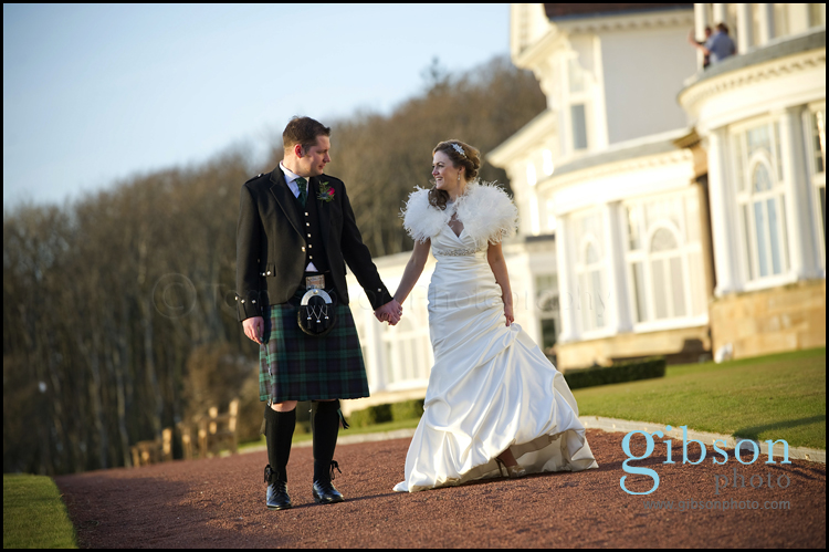 Wedding Turnberry Resport - Bride and Groom Fun Relaxed Photograph
