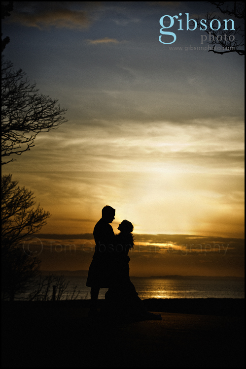 Wedding Photographer Turnberry sunset photograph Bride and Groom