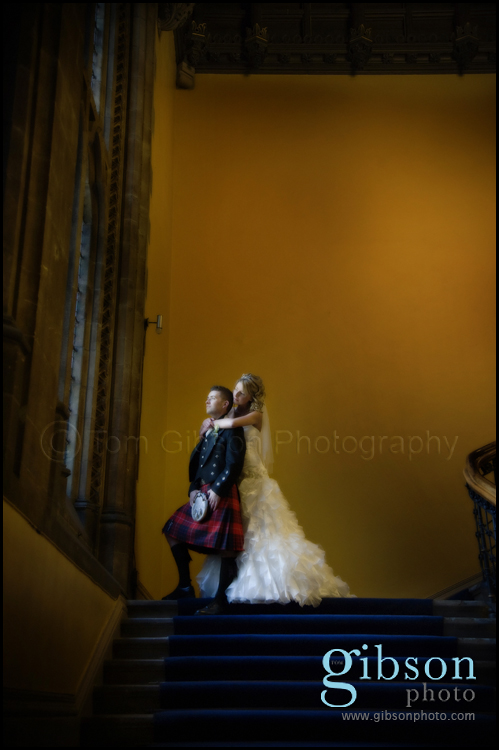 Glasgow Wedding Photographer Stunning wedding photograph of the bride and groom