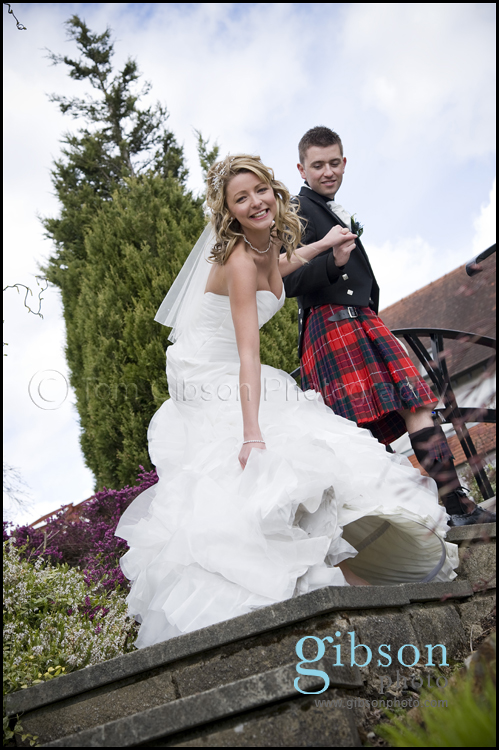 Glenskirlie Castle Wedding Photographer photograph of the Bride and Groom