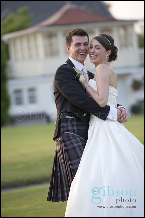 Wedding Photographer Seamill Bride & Groom Sunset Photograph