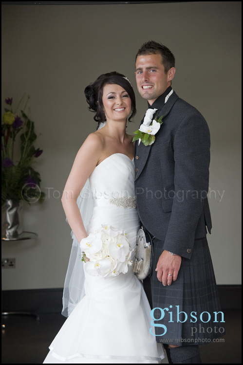 Carlton Hotel Wedding photograph bride and groom