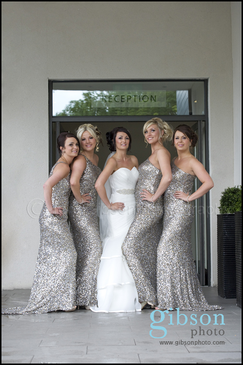 Wedding Carlton Hotel bride and bridesmaids photograph