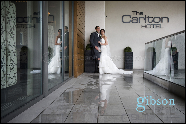 Wedding Photographer Carlton Hotel bride and groom photograph