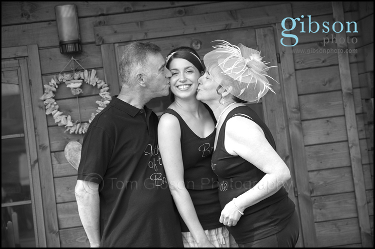 Ayrshire Wedding Photographer photograph of mum, dad and bride to be