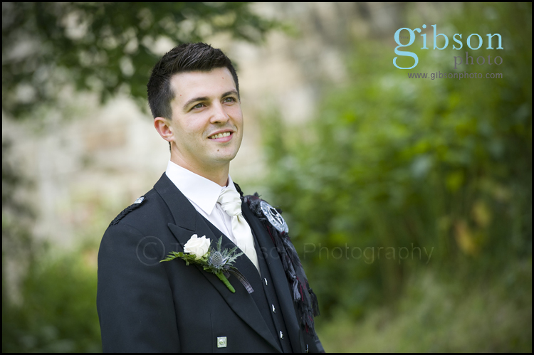 Wedding Photographer Ayrshire photograph of Groom