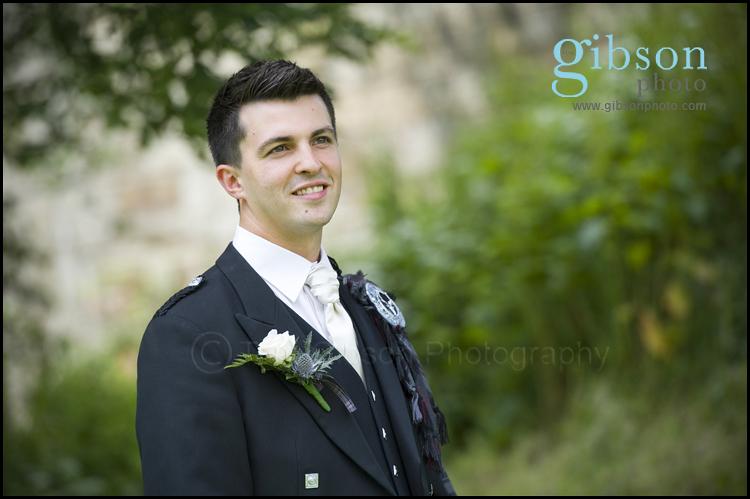 Wedding Photographer Ayrshire photograph of Groom