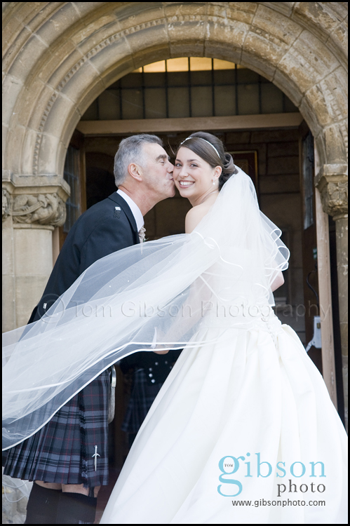 Wedding Photographer Ayrshire Beautiful photograph of the bride and her dad