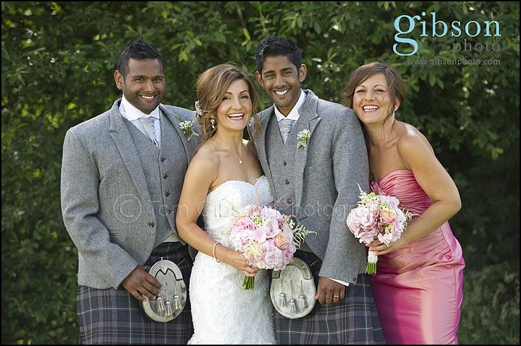 Ayrshire Wedding Photographer Fun Bridal Party Photograph