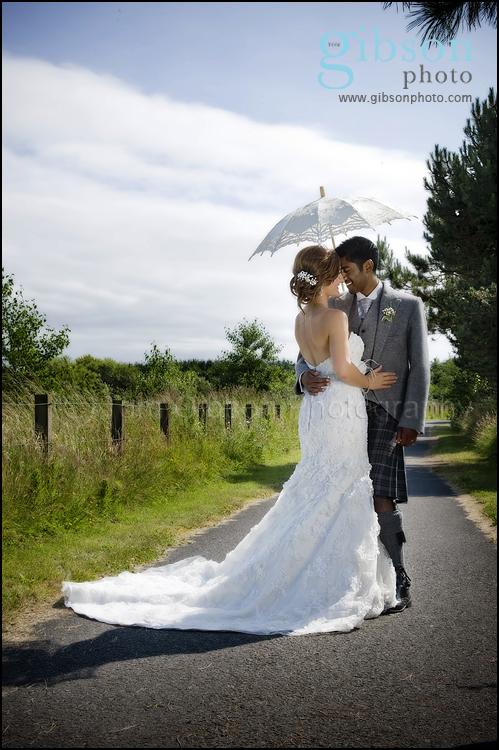 Beautiful Wedding Photograph bride and groom Ayrshire Wedding Photogapher
