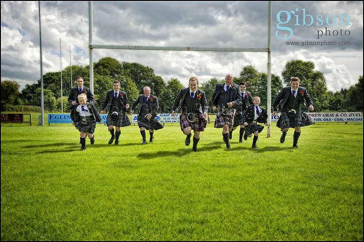 Brig O Doon Wedding photographs groom and groomsmen