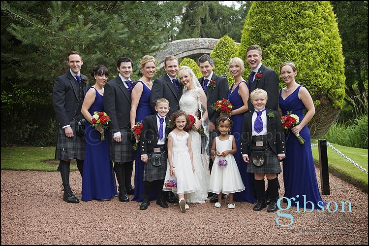 Brig O Doon Wedding Photographer bridal party photograph
