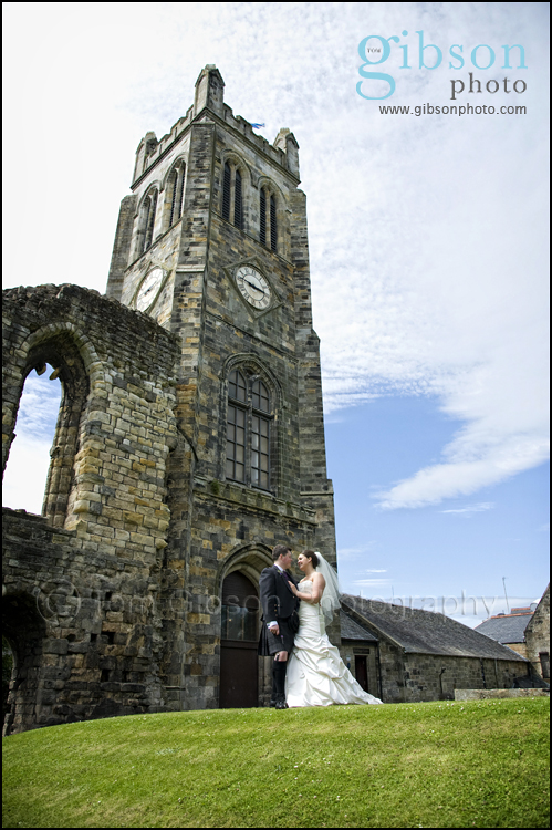 Ayrshire Wedding Photographer Kilwinning Abbey Photograph of the bride and groom