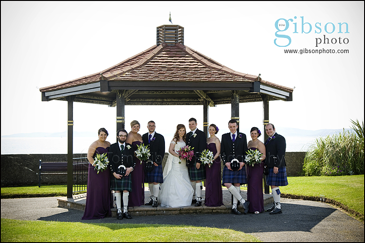 Seamill Hydro Wedding Bridal Party photograph