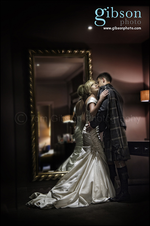 Dumfries Arms Hotel Wedding Photographer, bride and groom photograph