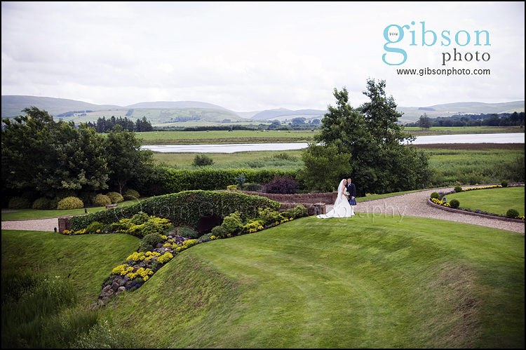 Lochside House Hotel Weddings Photograph of Bride and Groom