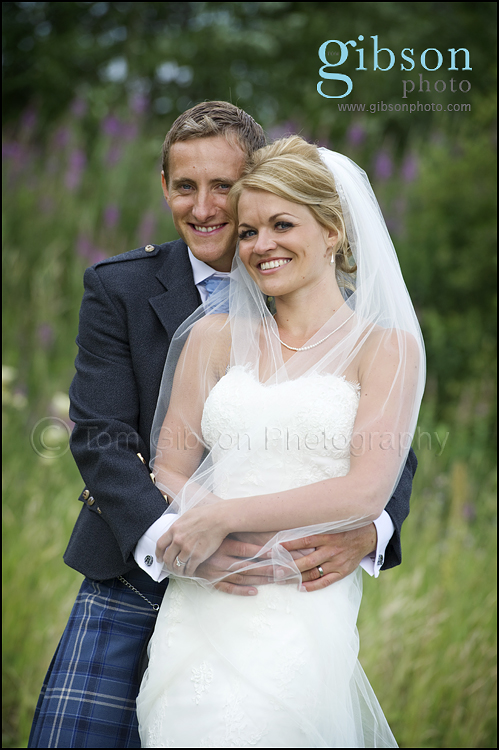 Lochside House Hotel Weddings, Bride and Groom Photograph