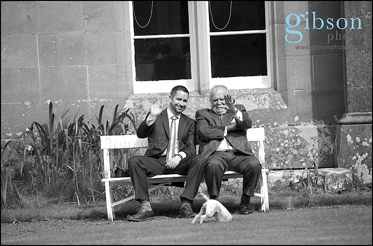 Civil Partnership Photographer Ayrshire, fun natural guest photograph