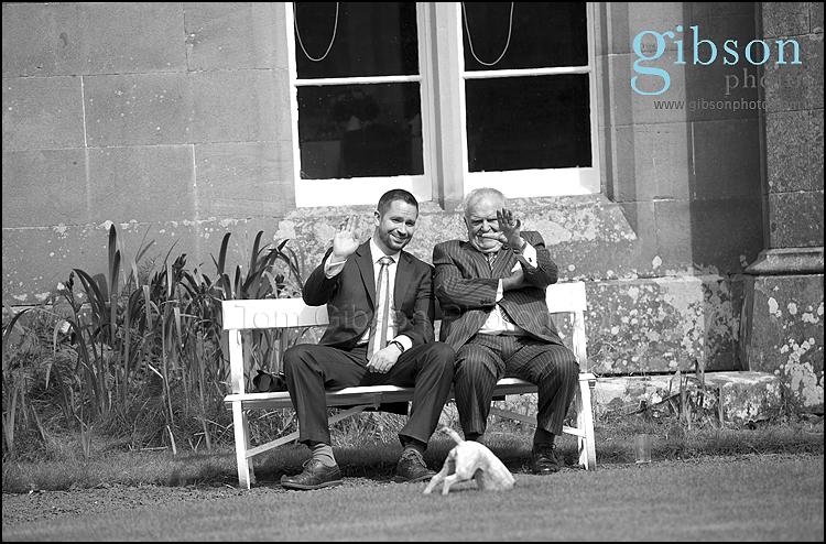 Civil Partnership Photographer Ayrshire, fun natural guest photograph