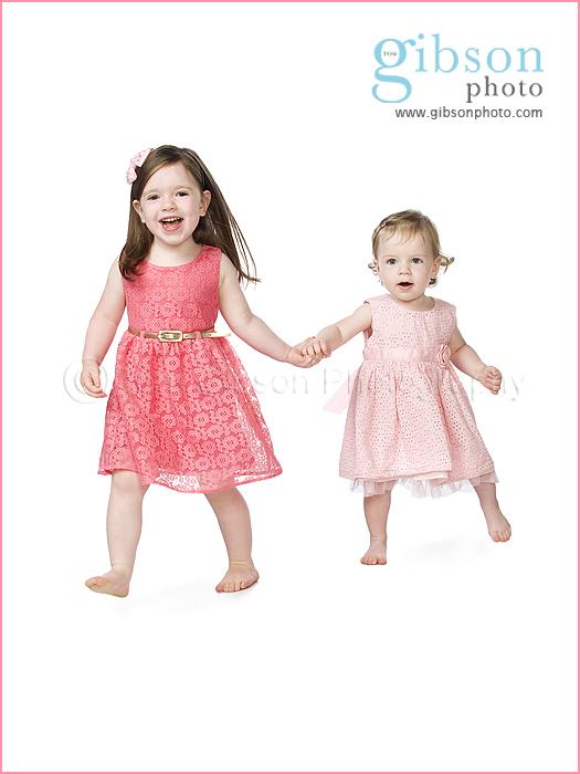 Ayrshire Baby Photographer cute studio photograph sisters