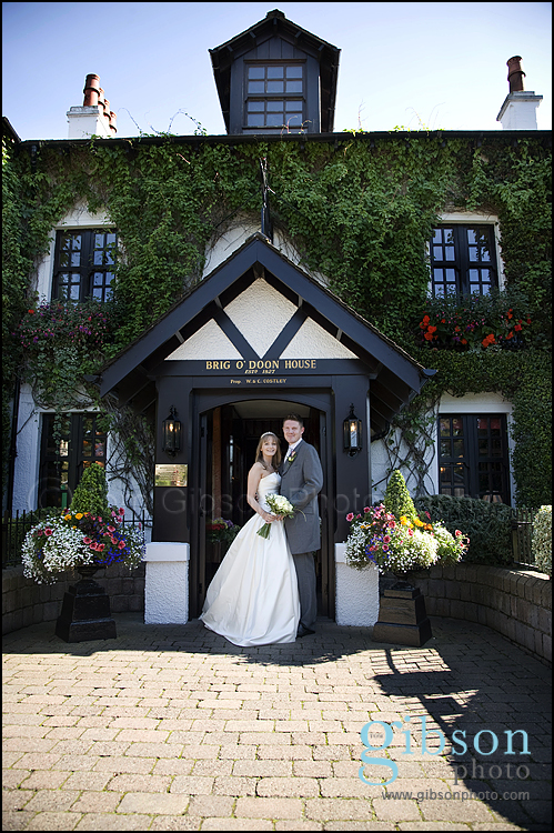 Brig O Doon Wedding Photographer Bride and Groom wedding photograph