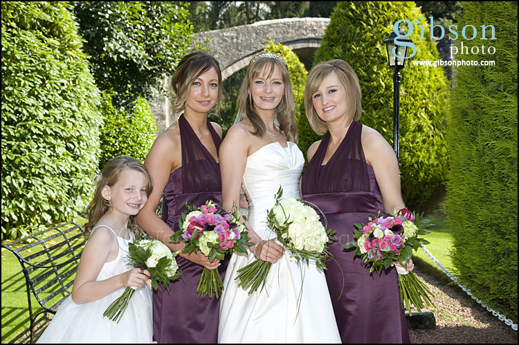 Brig O Doon Ayrshire Wedding Venue, Bride and Bridesmaid wedding photograph