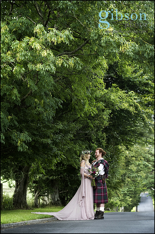 Lochside Hotel Wedding Photographer beautiful photograph of the bride and groom
