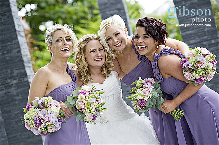 Carlton Hotel Weddings - Bride and Bridesmaids fun photograph