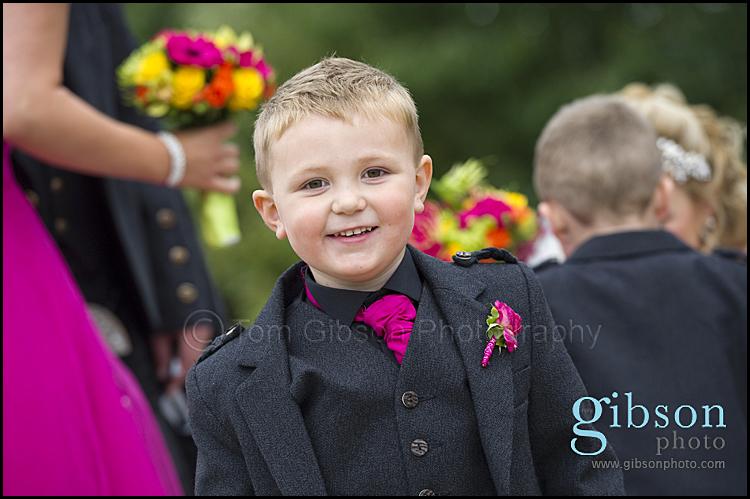 Fun Photograph Page Boy Lochside Wedding Ayrshire