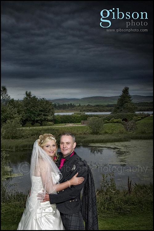 Lochside House Hotel Wedding Bride and Groom Photograph