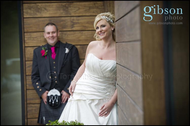 Bride and Groom Photograph Lochside House Hotel Wedding