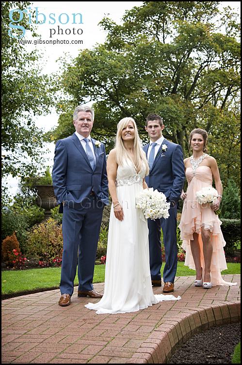 Highgrove Ayrshire Wedding Bridal Party Photograph