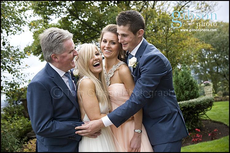 Wedding Bridal Party Photograph Highgrove Ayrshire
