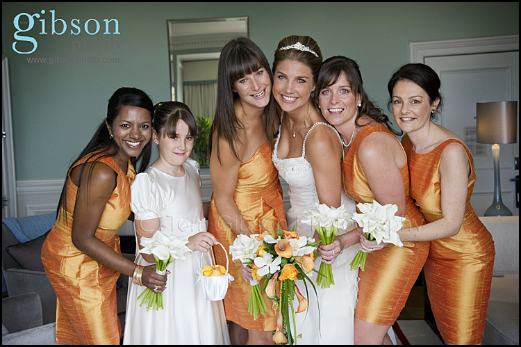 Wedding Photographer Turnberry Hotel Bride and Bridesmaid Photograph
